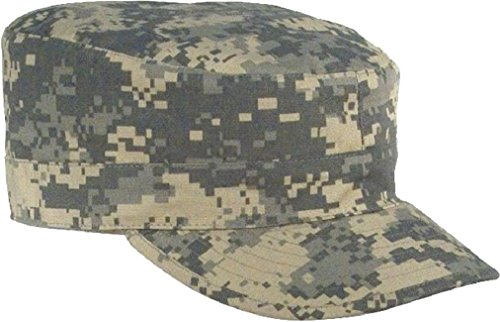 ACU Digital Camouflage Rip-Stop Map Pocket Patrol Ranger Fatigue Cap ()