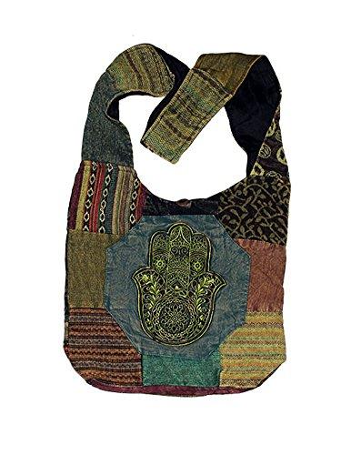 Zeckos - Bolso cruzados de algodón para mujer multicolor