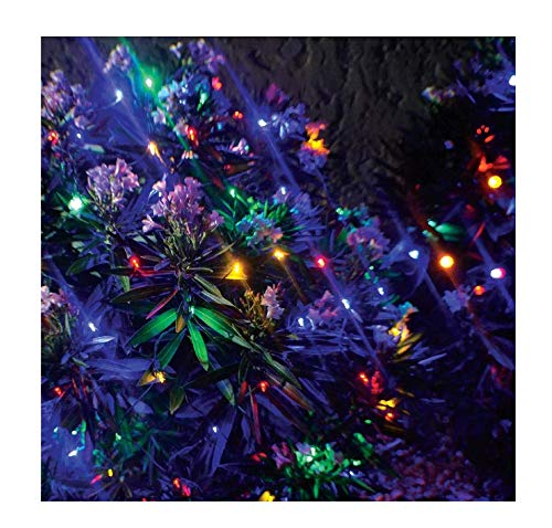 Stay Off The Roof Super Bright Mesh LED Christmas Net Lights Set - Multicolored - 150-Piece 6 ft x 4 ft Lighted Length for Outdoor Bushes and Decorations, Connect up to 18 Sets (Lights Christmas Netting)