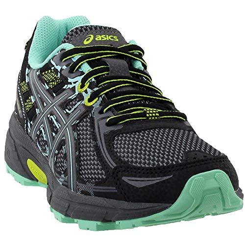 ASICS Women's Gel-Venture 6 Running-Shoes,Black/Carbon/Neon Lime,7.5 Medium US
