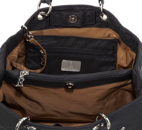 Bogner Leather Shop X 0043788, Borsa a spalla donna, 32 x 27 x 15 cm (L x A x P) Nero (Schwarz (Black 090))