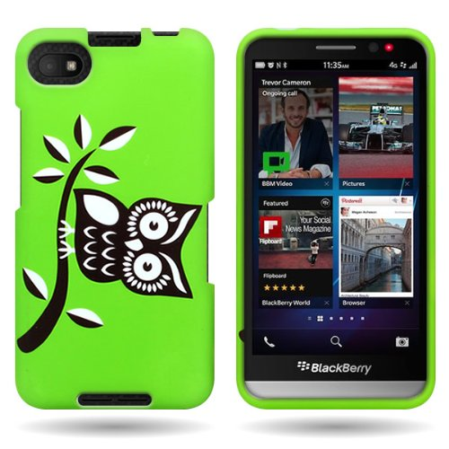 CoverON Slim Hard Case for Blackberry Z30 with Cover Removal Tool - (Branch Owl)