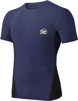 MEETWEE Camiseta Compresion Hombre,Deportes Camiseta de Manga Corta Ropa para Hombre para Running Atletismo: Amazon.es: Deportes y aire libre