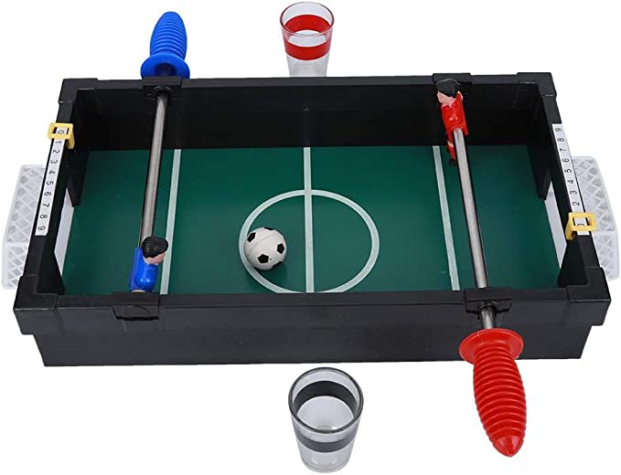Keenso Table Soccer Toy Desktop, de Juego de futbolín clásico Mini Table Top de Madera, Juego de futbolín de Mesa para Personas Dobles Mini Toy de fútbol de Escritorio Juegos interactivos: Amazon.es: