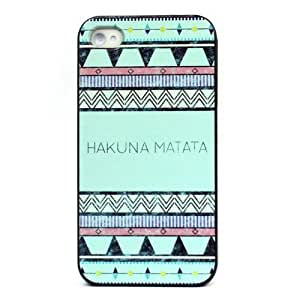 Aokdis Newly Fashion Featured Case for Iphone 4 4g 4gs/iphone5 5s (Hakuna Matata Aztec Tribal Pattern For iPhone...