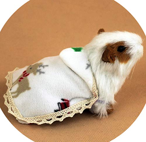 Hamster Cloak Christmas Hamster Costume Outfit Small Cloak Photograph Prop Little Cape Clothes Hats Clothes and Accessories -Size S -