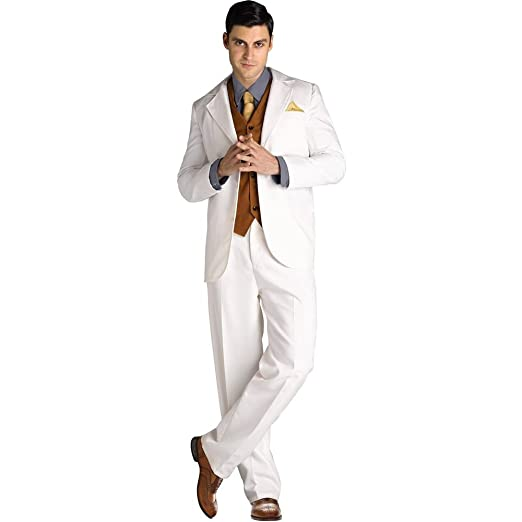 1920s Men's Costumes: Gatsby, Gangster, Peaky Blinders, Mobster, Mafia Fun World Mens Jay Gatsby Costume $34.47 AT vintagedancer.com