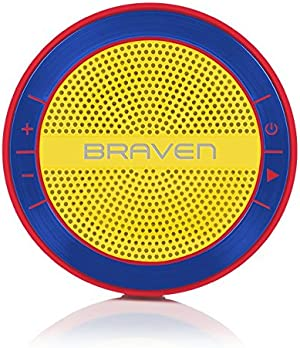 BRAVEN Mira Portable Wireless Bluetooth Speaker [12 Hours][Waterproof] Built-in 1200 mAh Power Bank Charger - Blue/Red/Yellow
