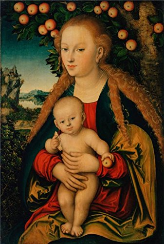 [Perfect Effect Canvas ,the High Quality Art Decorative Prints On Canvas Of Oil Painting 'The Virgin And Child Under An Apple Tree,1531 By Lucas Cranach The Elder', 16x24 Inch / 41x60 Cm Is Best For Hallway Artwork And Home Decoration And] (Lucas Mother 3 Costume)