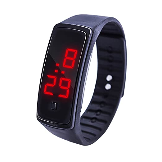 Amazon.com: SFE LED Digital Display Bracelet Watch Childrens Students Silica Gel Sports Watch: Sports & Outdoors
