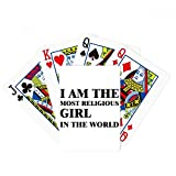 beatChong I Am The Religious Girl Poker Playing Card Tabletop Board Game Gift