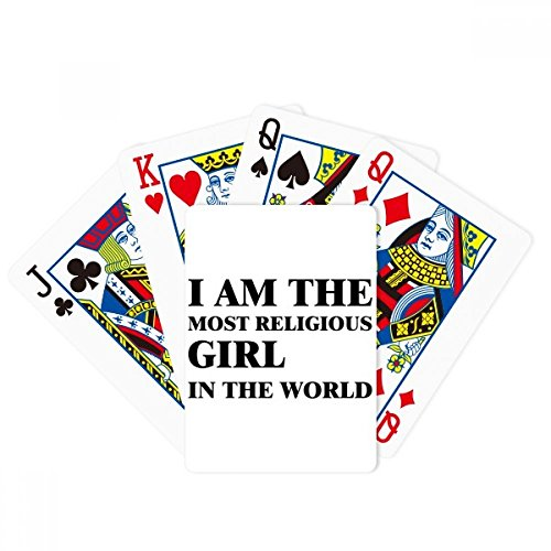 beatChong I Am The Religious Girl Poker Playing Card Tabletop Board Game Gift by beatChong