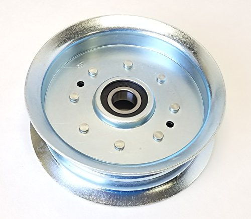 Steel Flat Idler Pulley Replaces John Deere, Scotts, or Sabre Pulley GY22082 GY20629, GY20639, (Lawn Mower Flat Idler)