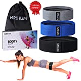 Hurdilen Resistance Bands Loop Exercise Bands Booty Bands,Workout Bands Hip Bands Wide Resistance Bands Hip Resistance Band for Legs and Butt,Activate Glutes and Thigh(Grey,Blue,Black)