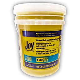 Joy 02301 Lemon Scent Manual Pot and Pan Detergent, 5 Gallons