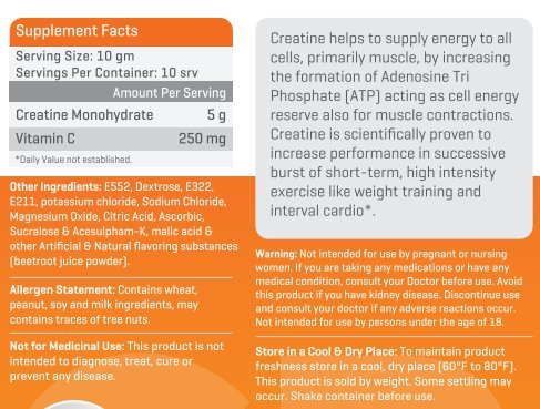 Advance Nutratech Creatine Monohydrate flavored 100 gm with Shaker