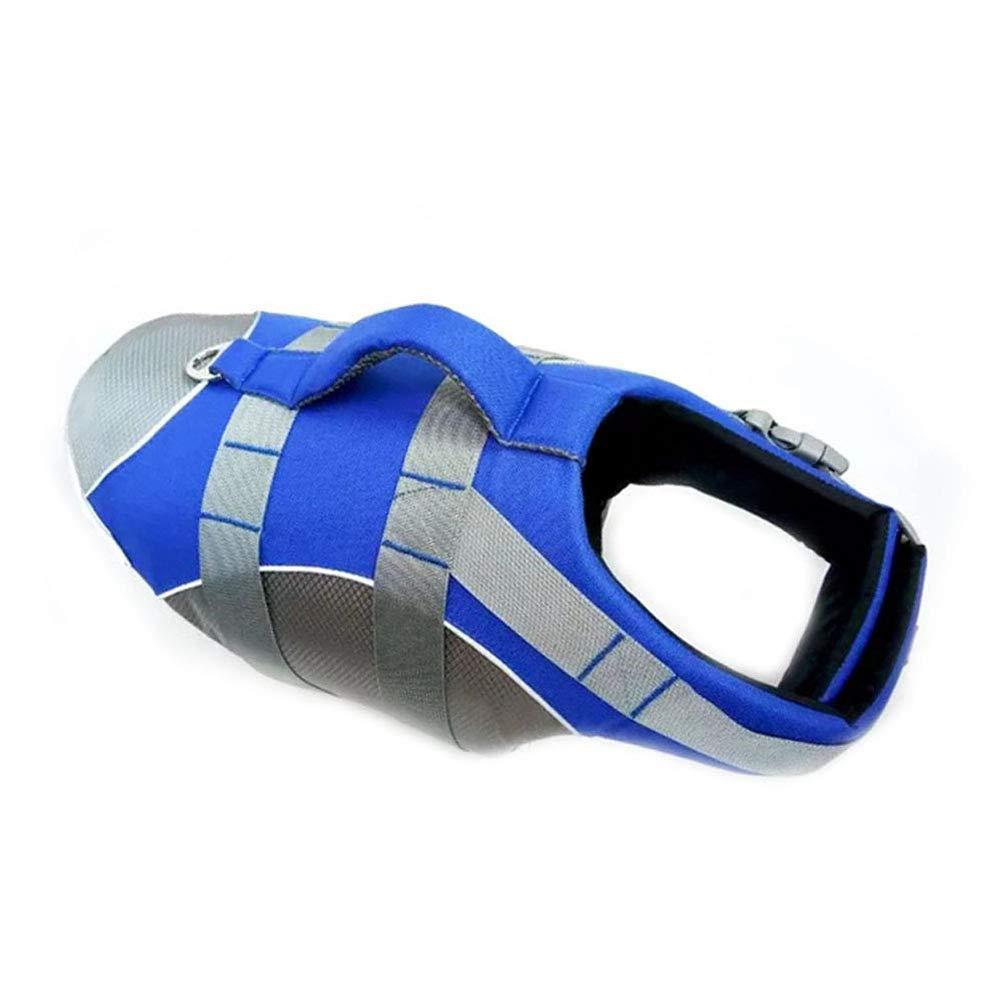 bluee L bluee L Dog LifeJacket,Super Buoyancy Adjustable Reflective Dog Safety Vest,bluee,L