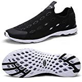 Zhuanglin Men's Mesh Slip On Water Shoes Casual Walking Shoes Size 11 D(M) US Black