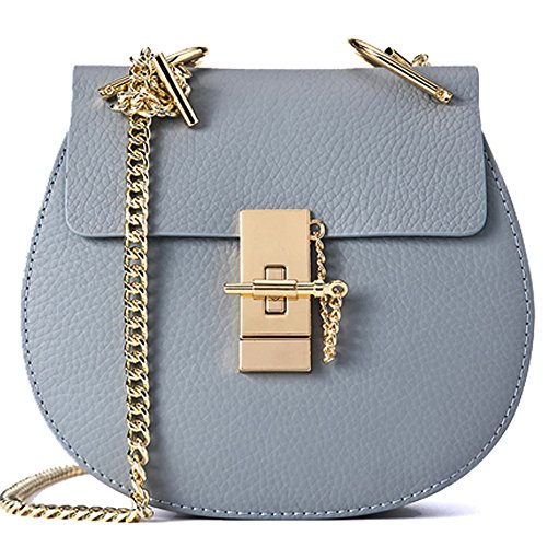 Size Mini crossbody bag Leather pig MACTON MC 5001 Genuine bag Flaxblue style OqawHR4