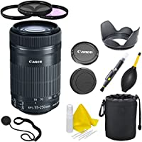 Canon EF-S 55-250mm F4-5.6 IS STM CT Deluxe Lens Kit for Canon SLR Cameras