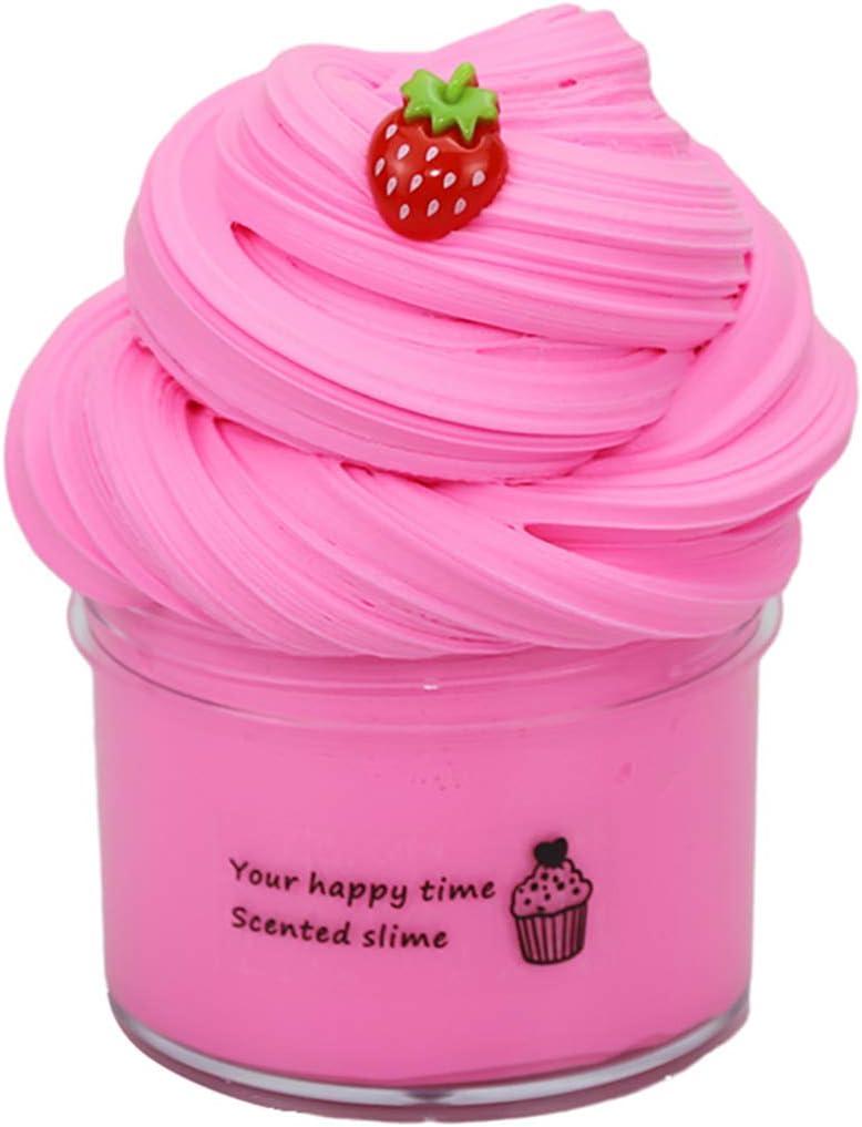 Cherry Butter Fluffy Slime Masilla de juguete Flamingo Cloud Slime DIY Arcilla Colorida Suave 200 ML BESTZY Slime Supplies Juguete de bricolaje para aliviar el estr/és