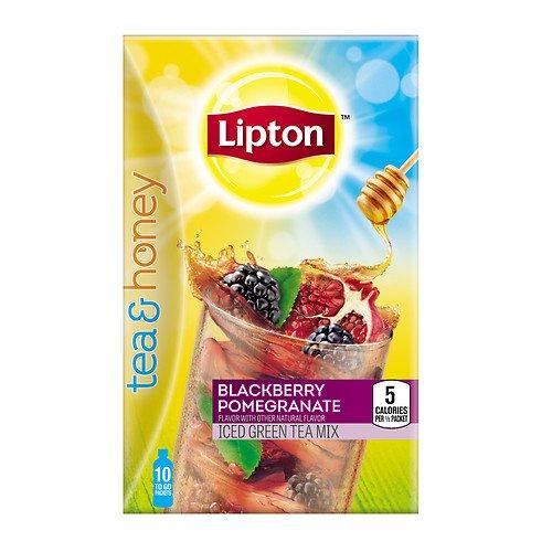 Lipton Tea   Honey To Go Packets  Blackberry Pomegranate Iced Green Tea   Pack Of 1