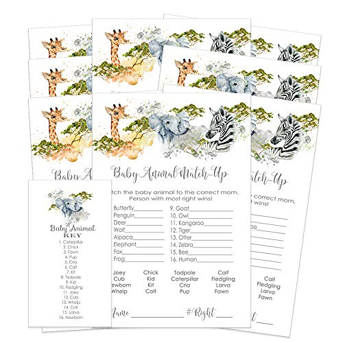 Jungle Animal Match Up Game Baby Shower or Party - 25 Pack]()