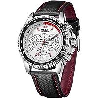 Megir 1010 quartz watch man casual leather brand watches men analog wristwatch