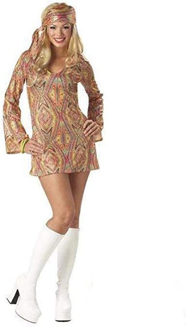 Disco Dolly 70s Costume: Amazon.es: Ropa y accesorios