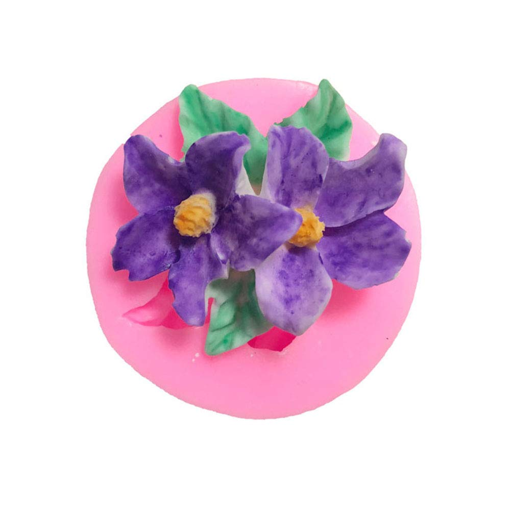 Yamalans Flower Pattern Silicone Fondant Cake Chocolate Mold Decorative Cookie Biscuit DIY Ice Candy Mould Baking Tool Random Color