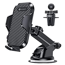 VICSEED Universal Car Phone Mount Car Phone Holder for Car Dashboard Windshield Air Vent Long Arm Strong Suction Cell…