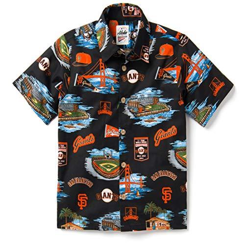 Reyn Spooner Boys' Big San Francisco Giants MLB Classic Fit Hawaiian Shirt, Scenic 2019, ()