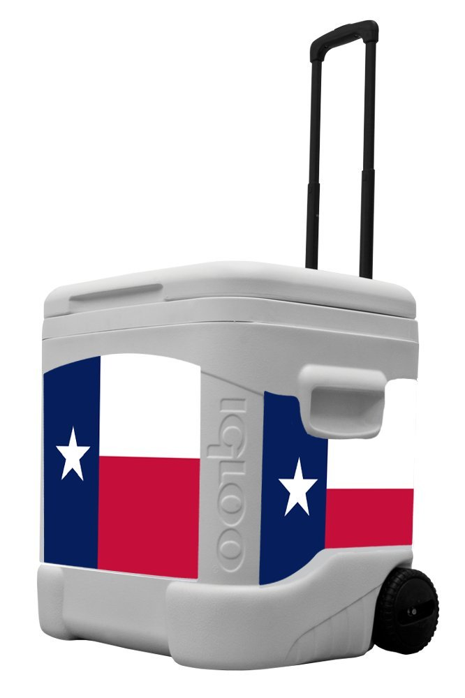 Texas Flag – 60 Quart Cooler with Wheels