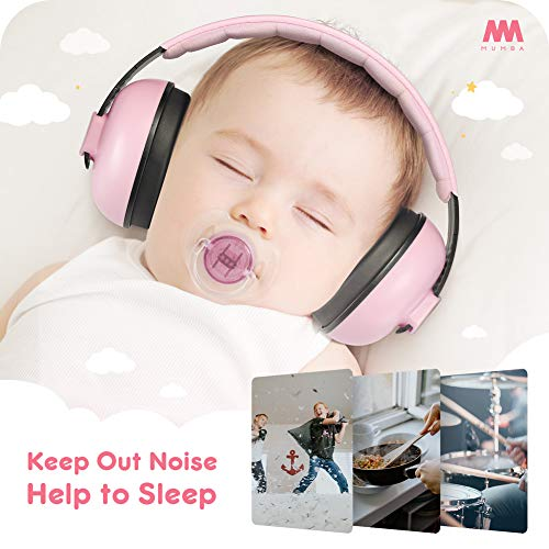 Baby Ear Protection Noise Cancelling Headphones for Babies and Toddlers - Mumba Baby Earmuffs - Ages 3-24+ Months - for Sleeping, Studying, Airplane, Concerts, Movie, Theater, Fireworks by Mumba (Image #3)