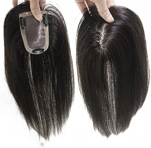 Remeehiヘアピース 部分ウィッグ 人毛100%ウィッグ 7cm×10cm つけ毛 増毛部分かつら 白髪隠れ 通気性よく ポイントウィッグ