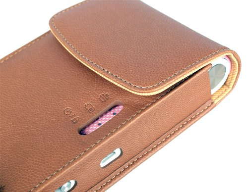 Atout Premium Vintage Synthetic Leather Cover Case [Brown] for LG PD239 Pocket Photo Printer Case Photo #7