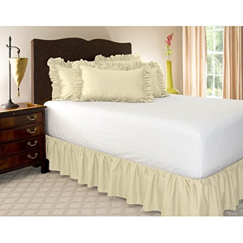 Ruffled/Gathering Solid Bed Skirt Soft Brushed Microfiber Bed - Twin Size Ruffled Bed Skirt