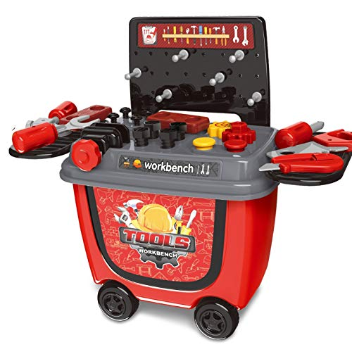 Toys Bhoomi 2 in 1 Push  amp; Pull Tools Workbench Playset Toy   28 Piece