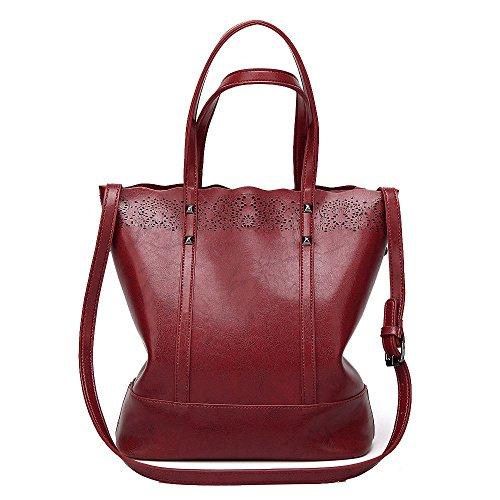 Mochila De Bolso Wild Para Zllnsxkb Mujeres Mano Shoulder Fashion Winered Crossbody Bags Alta Capacidad Casual qO005da