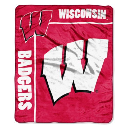 The Northwest Company Officially Licensed NCAA Wisconsin Badgers School Spirit Plush Raschel Throw Blanket, 50