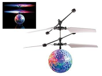 Bola Volante helicóptero inteligente con sensor de movimiento y luces. Desafío tus amigos