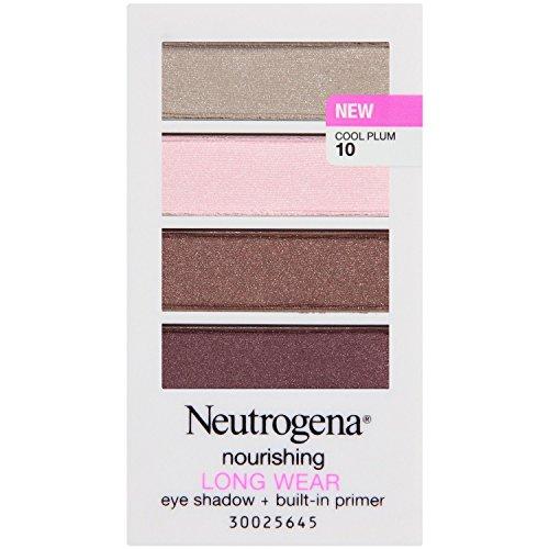 (Pack of 2) Neutrogena Nourishing Long Wear Eye Shadow Plus Primer, Cool Plum, 0.24 Ounce