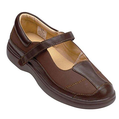 SureFit Womens Monaco II Mary Jane Chocolate Leather Shoe 6.5 WW US aGi9dc