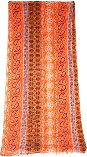 Women's Scarves and Wraps Luxurious Indian Soft Paisley Fringe Yoga Bikini Cover-up Neck Wrap Beach Sarong Pareo Gypsy 5039