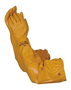 Atlas 772 Nitrile Coated Gloves 26 inch Long Cotton Lined, Chemical Resistant, Water, Pond, Work, Large