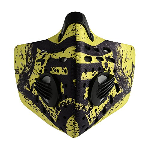 RockBros-Cycling-Anti-dust-Half-Face-Mask-with-Filter-Neoprene-2014-Black-Yellow