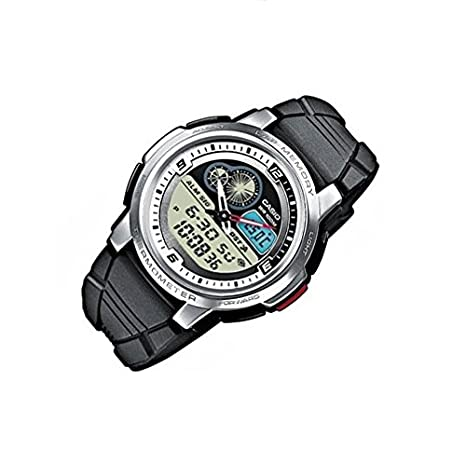 Amazon.com: Casio AQF-102W-7BVEF Mens Moontide Thermometer Sports Watch: Watches