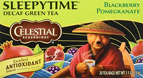 Celestial Seasonings Green Tea, Sleepytime Decaf Blackberry Pomegranate, 20 ()