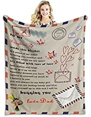 Tveinard Personalized to My Daughter Blanket from Mom,Flannel Blanket for Kids and Adults Home Decor Soft Warm Blanket forThanksgiving Day, Birthday, ,for Bed Couch Travel Beach 50x60 Inches