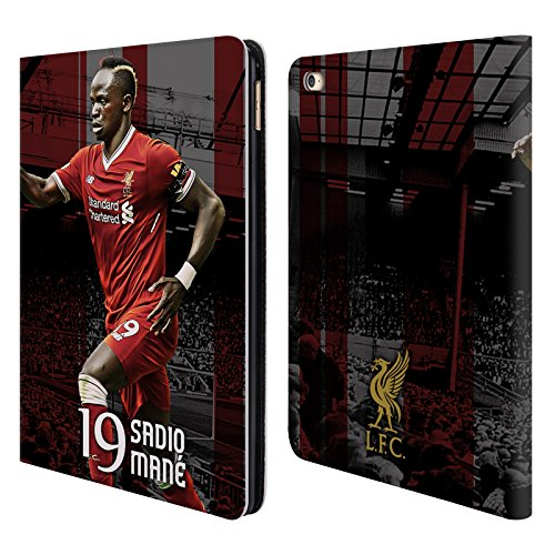Official Liverpool Football Club Sadio Mané 2017/18 First Team Group 1 Leather Book Wallet Case Cover for iPad Air 2 (2014)